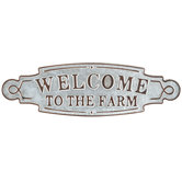 Welcome To The Farm Metal Wall Decor
